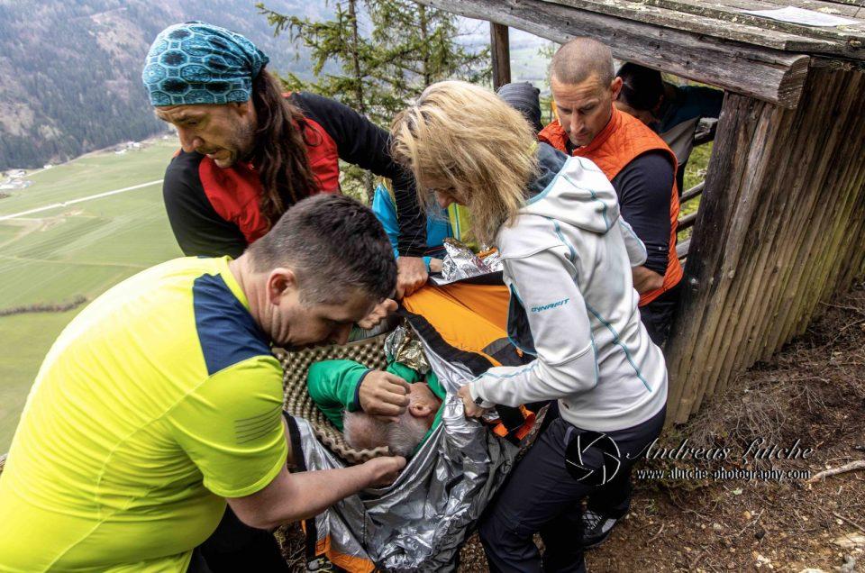 Bergwanderführer und die Sicherheit